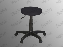 Rider A Stool (Sponge - Black Leather - Plastic Foot)