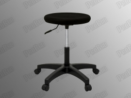 ProBed-8302 Rider A Stool (Bulk Sponge - Black Leather - Plastic Foot)