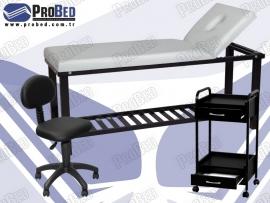 kuaför malzemeleri, çekmeceli cihaz sehpası, arkalıklı amortisörlü sandalye