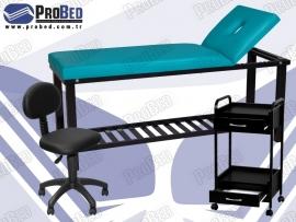 bakım yatağı, medikal uzman taburesi, medikal cihaz sehpası