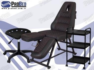 çalışma taburesi, çift ayaklı sir ağda koltuğu, ahşap cihaz sehpası