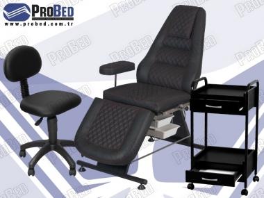 dövmeci koltuğu, dövme setup sehpası, dövmeci taburesi arkalıklı