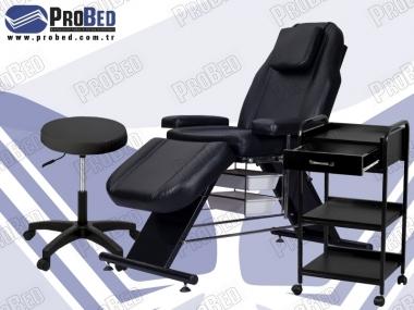pedikür koltuğu, tekerlekli cihaz sehpası, amortisörlü tabure