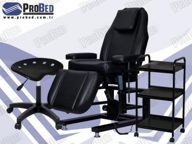 elektrikli dövme koltuğu, tabure, cihaz sehpası