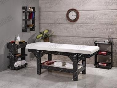 Lüks Ahşap Masaj Masası - Beyaz