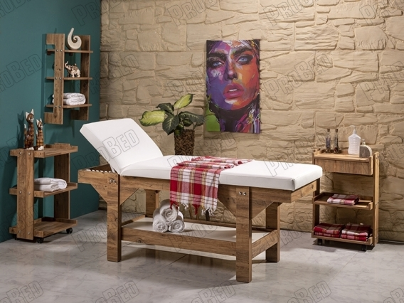 Cilt Bakım Yatağı, botoks yatağı, ahşap cilt bakım masası, ahşap bakım yatakları