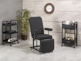 The backrest and footrest movable seat portion (black)