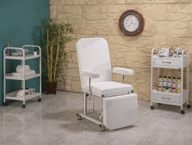 The backrest and footrest movable seat portion (white)