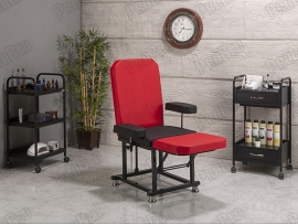 ProBed-3008 backrest and footrest movable seat portion (Red-Black)