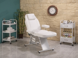 ProBed-3010 backrest and footrest movable seat portion (plastic with bathtub)
