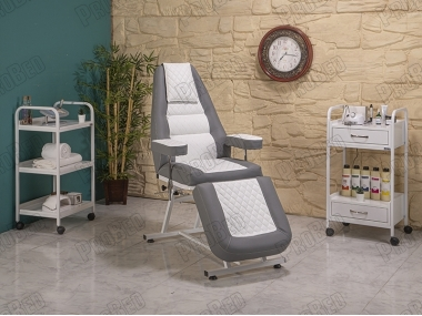 Anka Back and Foot Part Moving Seat (Gray-White)