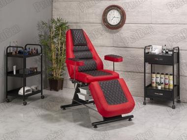 Die Rückenlehne und Fußstütze beweglichen Sitz Teil (Kunststoff mit Badewanne)