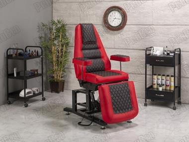 Elegance 3 Motorlu Elektrikli Koltuk (Kırmızı - Siyah)
