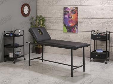 Basic Katlanır Ayaklı Bakımve Masaj Masası | Siyah