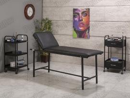 Basic Katlanır Ayaklı Bakım Masası | Siyah