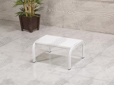 Tek Basamaklı Eskabo Merdiven | Metal Gövde - Beyaz - Oval