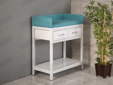 Bebek Altı Açma (Değiştirme) Masası | Turkuaz - Beyaz