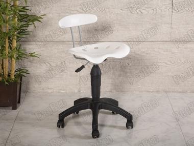 Amortisörlü Çalışma Sandalyesi | Plastik Oturaklı - Beyaz - Plastik Ayak