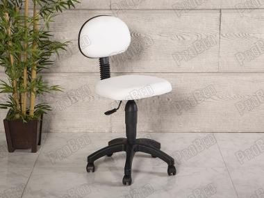Amortisörlü Çalışma Sandalyesi | Beyaz - Plastik Ayak