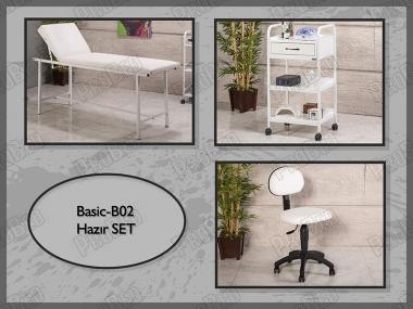 Hazır Setler | Basic-B02 | Sedye, Cihaz Sehpası, Sandalye