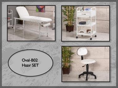 Hazır Setler | Oval-B02 | Sedye, Cihaz Sehpası, Sandalye