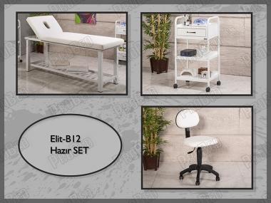 Hazır Setler | Elit-B12 | Sedye (Delikli), Cihaz Sehpası, Sandalye