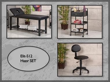 Hazır Setler | Elit-S12 | Sedye (Delikli), Cihaz Sehpası, Sandalye