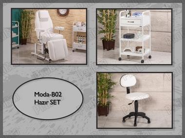 Hazır Setler | Moda-B02 | Hareketli Koltuk, Cihaz Sehpası, Sandalye