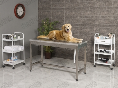 Veterinary Desk Is Compact Stainless