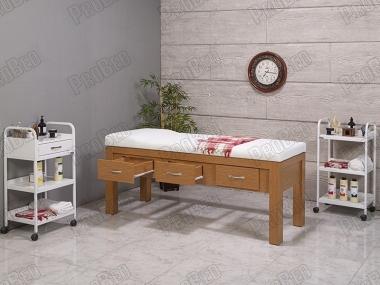 Holz-Tisch Mit 3 Schubladen