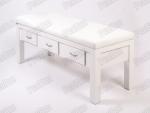 Foça Ahşap Bakım Masası   Beyaz