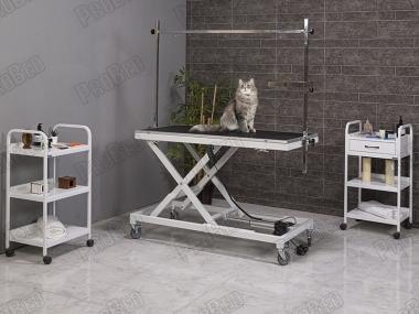 Pet Bakım ve Muayene Masası, Pet Kuaför Masası, Tek Motorlu Muayene Masası, Yükselik hareketli Pet Muayene Masası