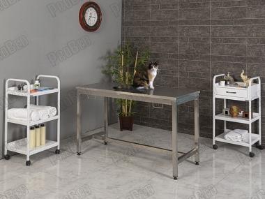 Paslannmaz Veteriner Masası, Paslanmaz Operasyon Masası, Vetiriner Ameliyat Masası, Sabit Ayak Veteriner Masası