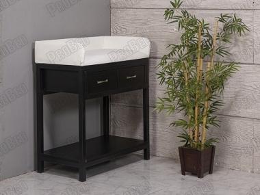 Çekmeceli Bebek Altı Açma (Değiştirme) Masası | Beyaz - Siyah