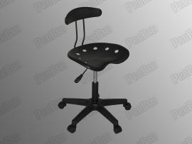 ProBed-8306 Amortisörlü Tabure (Plastik Oturaklı - Siyah - Arkalıklı)