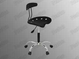 ProBed-8307 Amortisörlü Tabure (Plastik Oturaklı - Siyah - Arkalıklı - Krom Ayaklı)