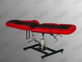 Royal-2 Sırt ve Ayak Kısmı Hareketli Hidrolikli Koltuk (Kırmızı - Siyah)