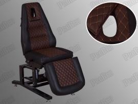 Elegance 3 Motorlu Elektrikli Dövme Tattoo Koltuğu (Kahverengi - Siyah)