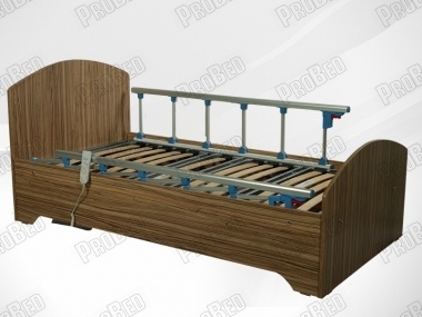 Wooden cot and mattress of the electric motor 2 prestige moving Systems