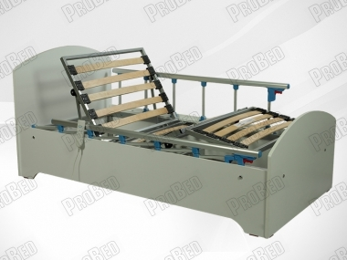 Wooden cot and mattress of the electric motor 2 Venus moving Systems
