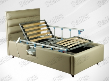 Mystery Wood cot and mattress; stool-equipped electric motor Systems 2