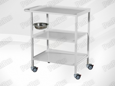 Metal Trolley With Three Shelves