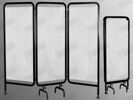3 Kanatlı Paravan Perde (Siyah + Beyaz)