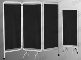 3 Kanatlı Paravan Perde (Beyaz + Siyah)