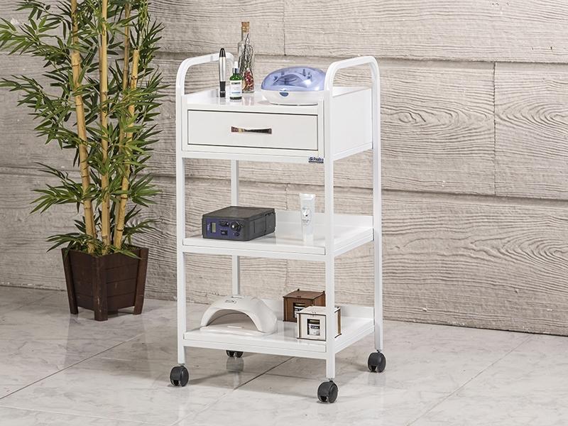 dizayn-cihaz-tasima-ve-setup-sehpasi-tek-cekmeceli-beyaz